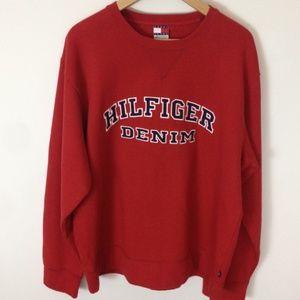 Tommy Jeans Hilfiger Vintage Red Sweatshirt XL
